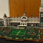 A model of the Dunedin Railway Station built by Pieter Dennison, of Brighton. Photos: Linda...