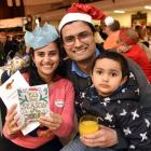 Nepalese family (from left) Dipa Bhandari, Gaurav Gyanwali and Prapti Gyanwali (3) experience...