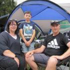 Liz, Quinn (9) and Allan McLure, of Rangiora. Photos: Mark Price