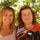 Kim Hollebon, of Cambrians, and Tania Irons, of Becks.
