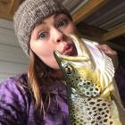 Sharna Andrews, of Cheviot, with a 2kg brown trout she caught at Poolburn Dam over the Christmas...