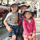 Jack (6), Kate (4) and their mother Karen Lusk, of Dunedin.