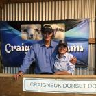 Johnny and Geraldine Duncan enjoy a social catch-up with clients after their Craigneuk ram sale. Photos: Alice Scott