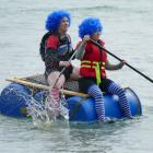 ''The Things'' team-mates Bex Jones (left), and Shannah Rhynard-Geil, of Dunedin, prepare for a...