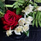 Joan Brenssell, of Tapanui, created this floral art entry for her club, the West Otago Rose...