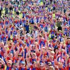 Children gather for the prizegiving after the Weet-bix Kids TRYathlon drew 1450 entrants in...