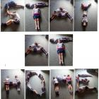 George (10), Henry (8), Rebecca (7) and Maggie (6) spell out an important message at home on...