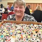 Mosgiel Market stallholder Chris Adams says she has millions of buttons and hoped to have success...