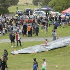 The slip and slide at the Dunedin police Whanau Fun Day at St Kilda's Marlow Park on Saturday....