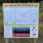 A sign at the base of Signal Hill with details of all the tracks. PHOTOS: JESSICA WILSON