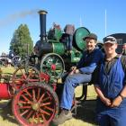 Innes McKay (12, left) and Kyro Brook (14) display Innes' four and a-half inch scale Burrell...