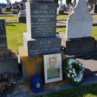 Constable James Dorgan's gravesite in the Timaru Cemetery, the location for Police Remembrance...