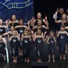 Kaitangata School pupils showed some team spirit in black and white during the Otago Polyfest at...