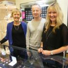 Jamies Jewellers owners (from left) Paula Lovering, Clyde Vellacott and Rachel Vellacott...