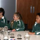 Tarras School pupils (from left): Jack (12) and Billie (10) Willson and K'Dence Harrison (10)...