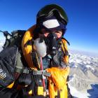 Brian Dagg on the summit of Mt Everest. Photos supplied.