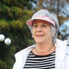 Jan Geary celebrates earlier this week after hitting her sixth hole in one at the Twelve Oaks...