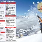 Snowboarder Stef Zeestraten flicks up powder snow at Cardona Alpine Resort to celebrate  pre...