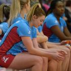 Gina Crampton gets ready for the Southern Steel's match against the Firebirds at the Edgar Centre...