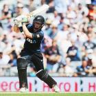 Henry Nicholls in action for New Zealand last summer. Photo: Getty Images