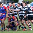 Action from today's Southern v Harbour match. Photo: Caswell Images