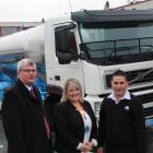 Fonterra national transport and logistics general manager Barry McColl (left), SIT road transport...