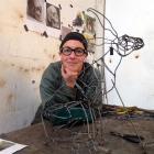 Methven artist Hannah Kidd in her workshop. Photos supplied.