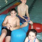 Scott Horrell (11, left) and Joshua (11) and Maddisyn (8) Booth. Photo by Jono Edwards.