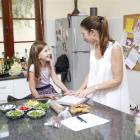 Former Masterchef contestant Vanessa Baxter shares her cooking skills with children. Photo supplied.