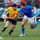 Italy's Alessandro Zanni (right) on Australia's Adam Ashley-Cooper.