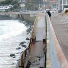 2011: Damage caused by heavy seas to a ramp at the Esplanade, St Clair.