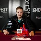 2011 Pokerstars.net NZPT Queenstown SkyCity Snowfest champion Marcel Schreiner, from Germany....