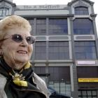 Abbie Kirkwood, a former World War 2 clothing factory worker, outside what was the Ross and...