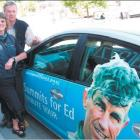 Advance party: Sir Edmund Hillary Foundation chairman Rupert Wilson and Bev Smith, from the...