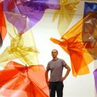 New York artist Spencer Finch in the Dunedin Public Art Gallery with Strange Light (after the...