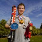 Disabled skier Adam Hall added to his extensive collection of medals during the northern...