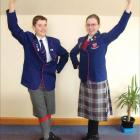 Highland style: Siblings Leighton (15) and Nadine Terry (17), of Gore, show the flair and style...