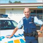 Off to ''paradise'': Constable Bruce McLean is set to bid farewell to the Cromwell police station...