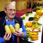 Dave Young (80) with his prize-winning lisetta potatoes at the Dunedin Horticultural Society's...