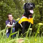 Search Dogs Otago operational search dog handler Richard Warrington (23) with Lucy, who is one of...