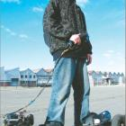 Easy rider: Justin Lintott's motorised skateboard is road-legal, has a top speed of 40kmh and...