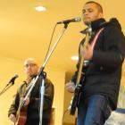 Opshop guitarist Matt Treacy (left) and singer Jason Kerrison perform at Fairfield School...