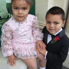 Elenoa (3) and Halalova (5) Asi are looking forward to the tap-dancing competitions this weekend....