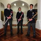 Otago Boys High School year 13 pupils (from left) Blair Tarrant, Hugo Inglis and Nick Ross at the...