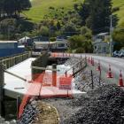 A boardwalk near Otakou forms part of a nearly completed section of road widening and cycle...