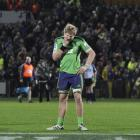 A dejected Adam Thomson after the Highlanders' 21-14 loss to the Force at Carisbrook last night....