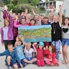 (Back row, from left) Josephine Tarasiewicz (9), Holly Bettis (9), Zhemera Marsh (11), Ariana...