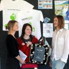 Dunedin secondary pupils' climate forum co-organiser Celia Neilson (left), Bayfield High School...