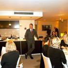 Film star and Queenstown resident Sam Neill entertains guests in the Penthouse Suite No 10, in...