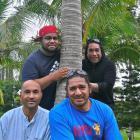 (From left) Hiliako Iaheto, Andrew Sione, Pos Mavaega and Rangitakau Tekii in New Caledonia....